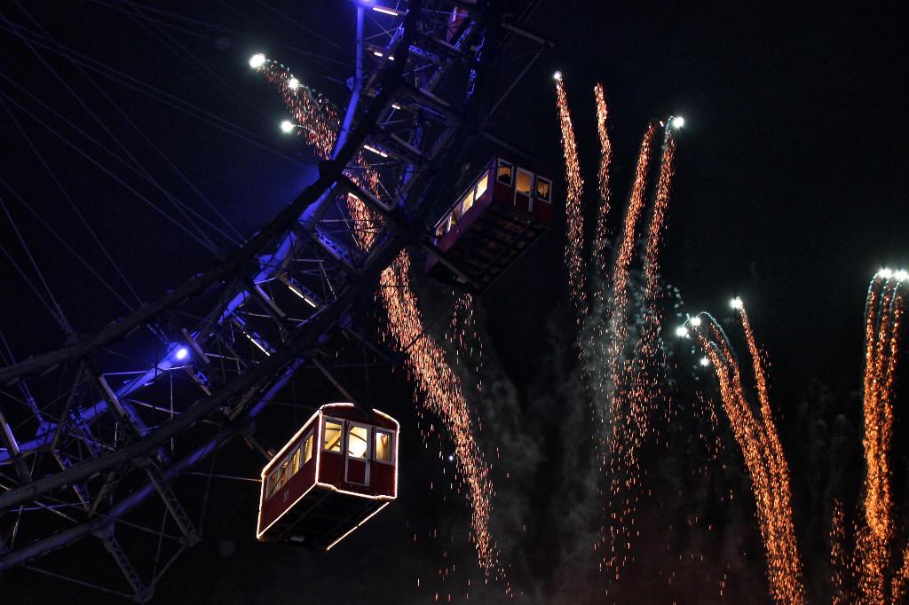 Firework and Ferris Wheel